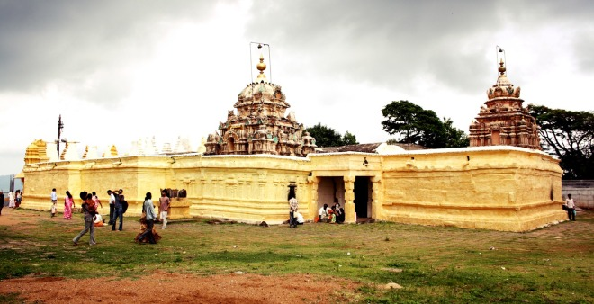 Indian temple on the hill