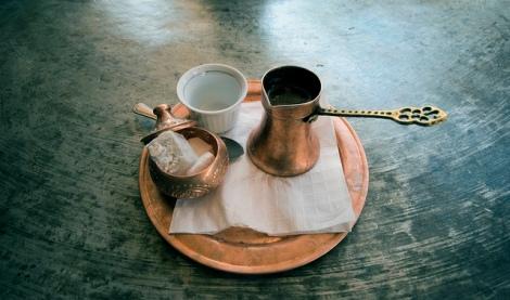 Coffee in a cezve/ibrik