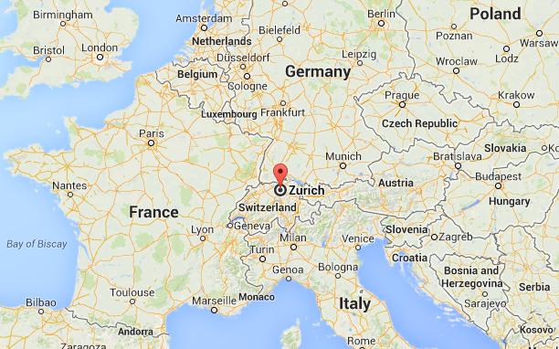 Switzerland (Europe). Credit: Google Maps