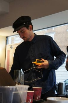Barista wearing a hat