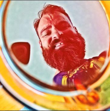 Bearded man smiling