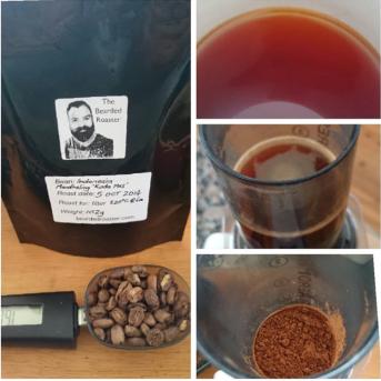 Brewing Aeropress filter coffee